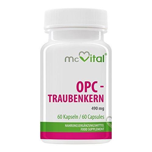 opc traubenkern 490 mg mit vitamin b2 hochdosiertes antioxidationsmittel fuer ihre blutgefaesse 60 kapseln - OPC - Traubenkern - 490 mg - mit Vitamin B2 - hochdosiertes Antioxidationsmittel für Ihre Blutgefäße - 60 Kapseln