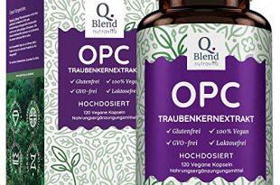 OPC Traubenkernextrakt Hochdosiert mit 520mg OPC - Vegane Kapseln - Premium-Qualität 1000mg Traubenkernextrakt aus Original Französischen Weintrauben - Hergestellt von Nutravita