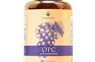 OPC Traubenkernextrakt - Höchster OPC Gehalt nach HPLC - 1100 mg Extrakt mit 770mg reines OPC je Tagesdosis - Premium: aus französischen Weintrauben. vegan in Kapseln